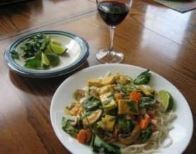thai golden curry with tofu