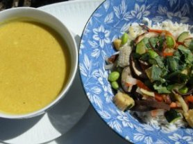 vegetables in curry sauce
