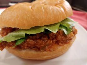 vegan sloppy joe sandwich